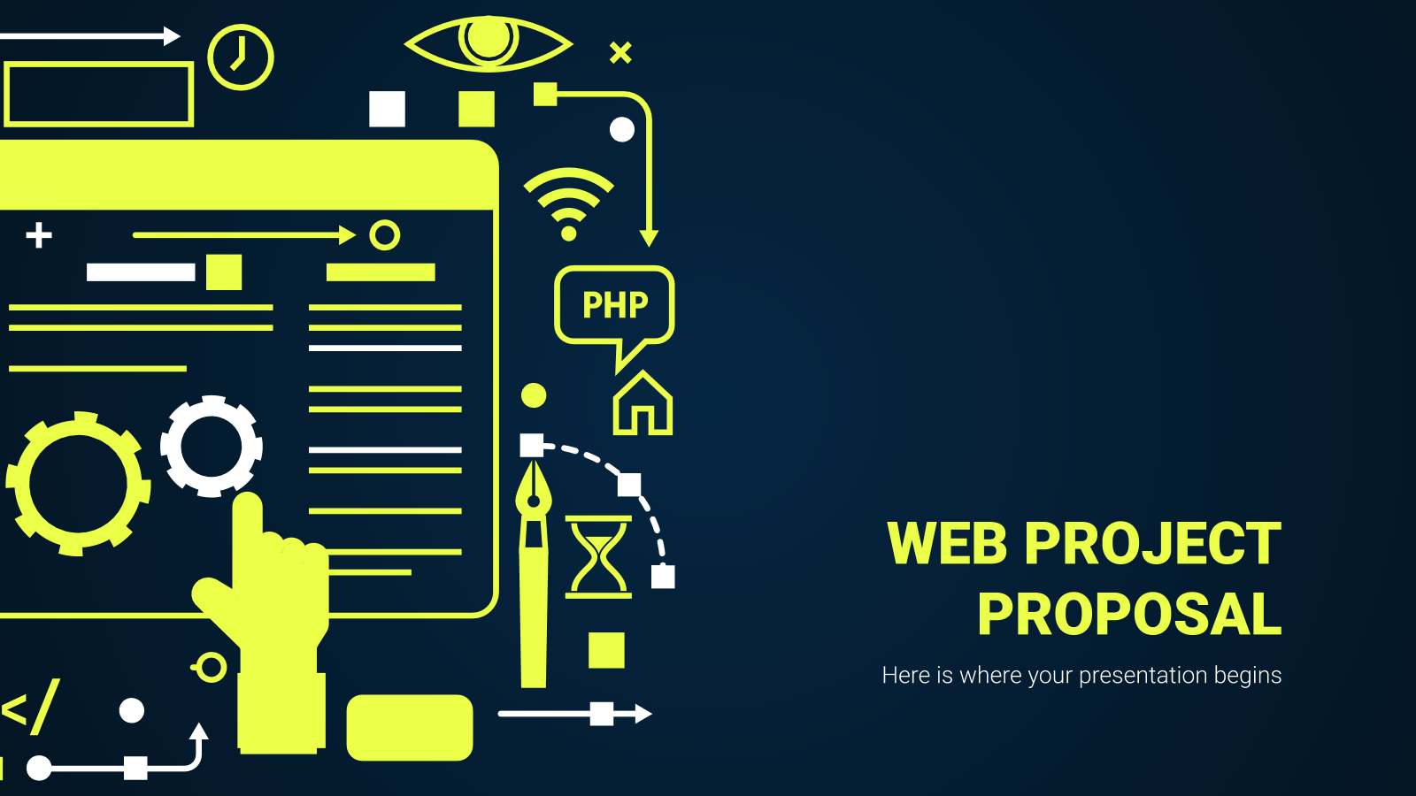 Web Project Proposal presentation template