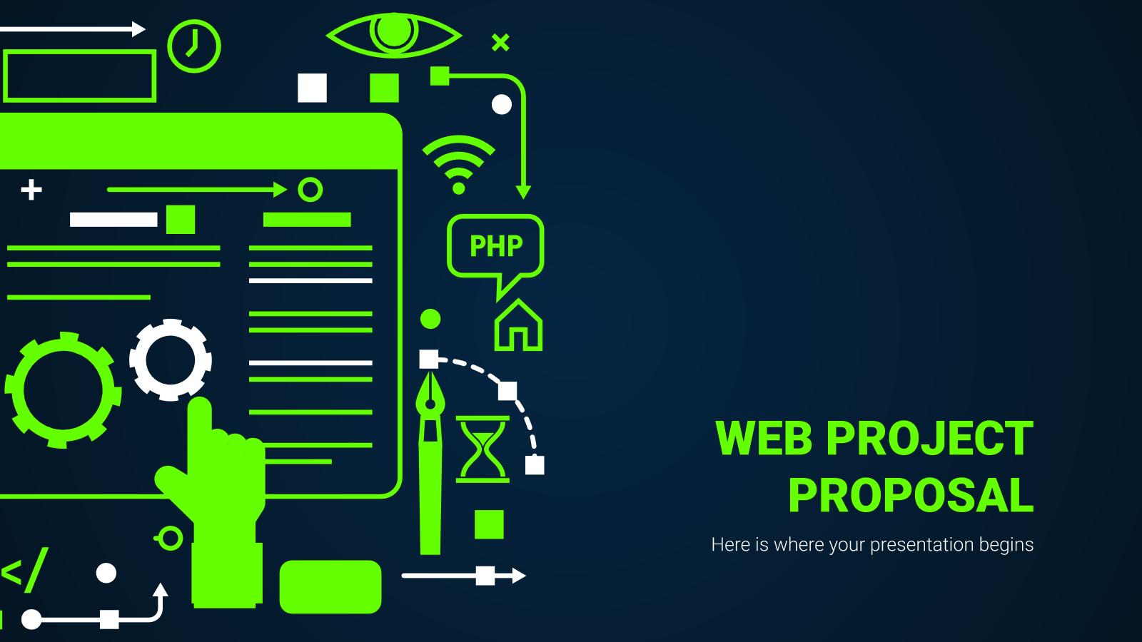 Plantilla de presentación Propuesta de proyecto web