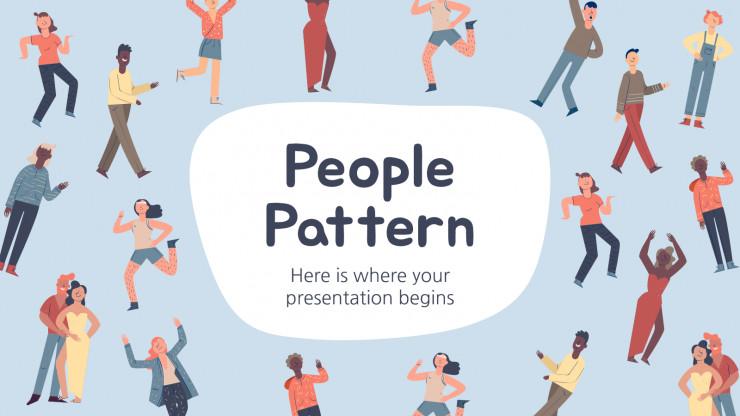 Plantilla de presentación Patrones con personas