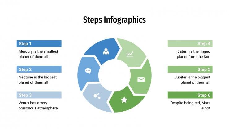 Plantilla de presentación Infografías de pasos