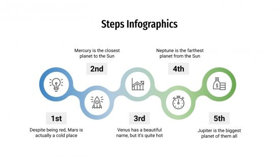 Steps Infographics presentation template