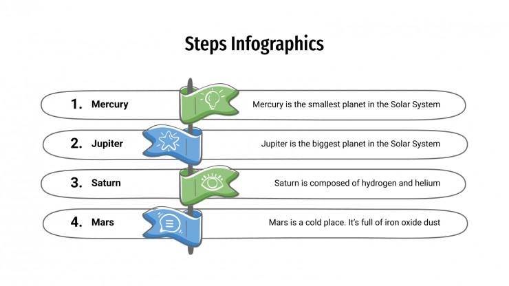 Steps Infographics presentation template