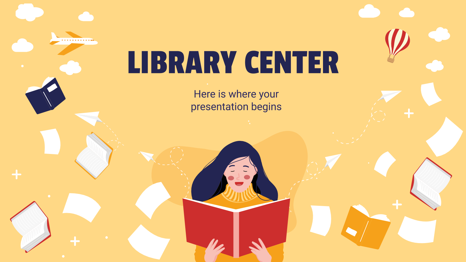 Library Center presentation template
