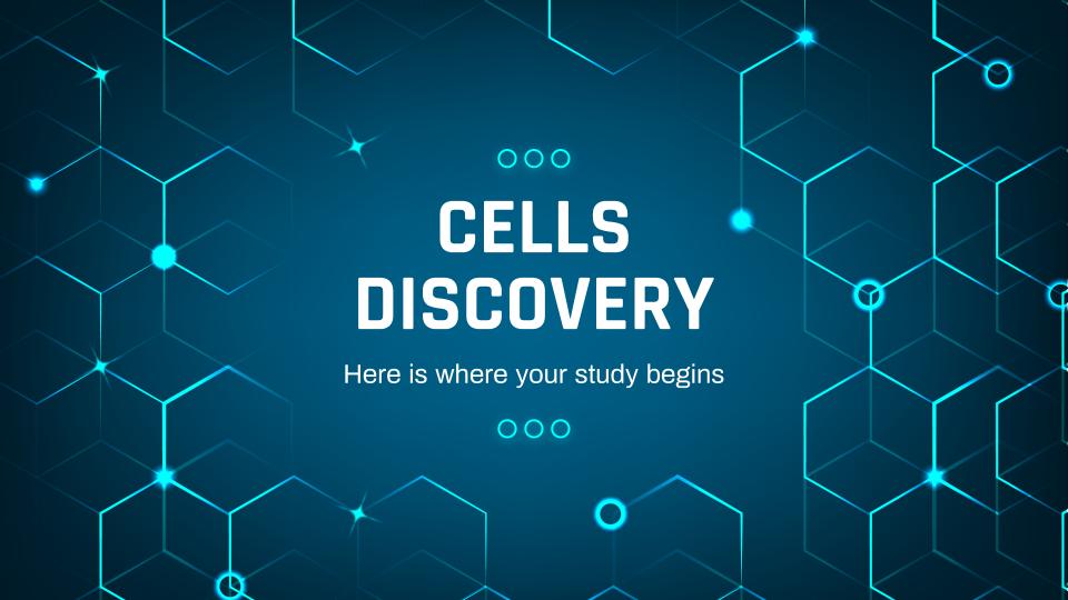 Modelo de apresentação Descoberta sobre células
