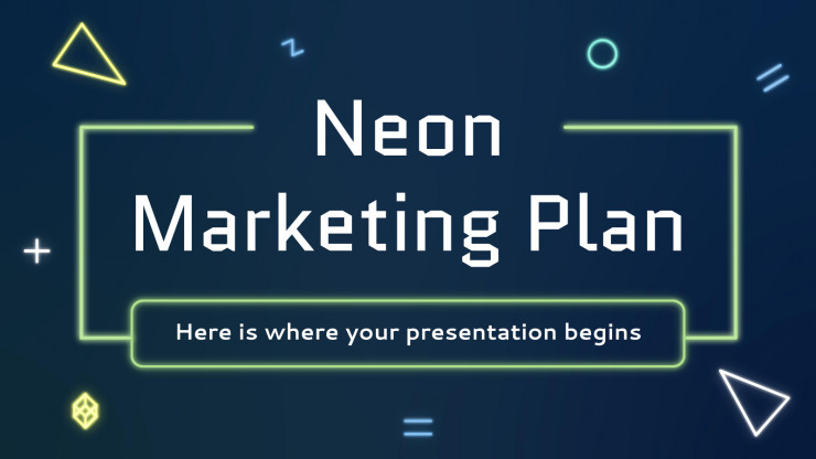 Neon Marketing Plan presentation template