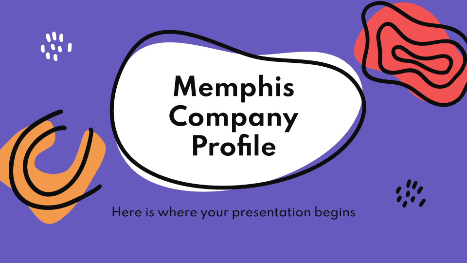 Memphis Company Profile presentation template