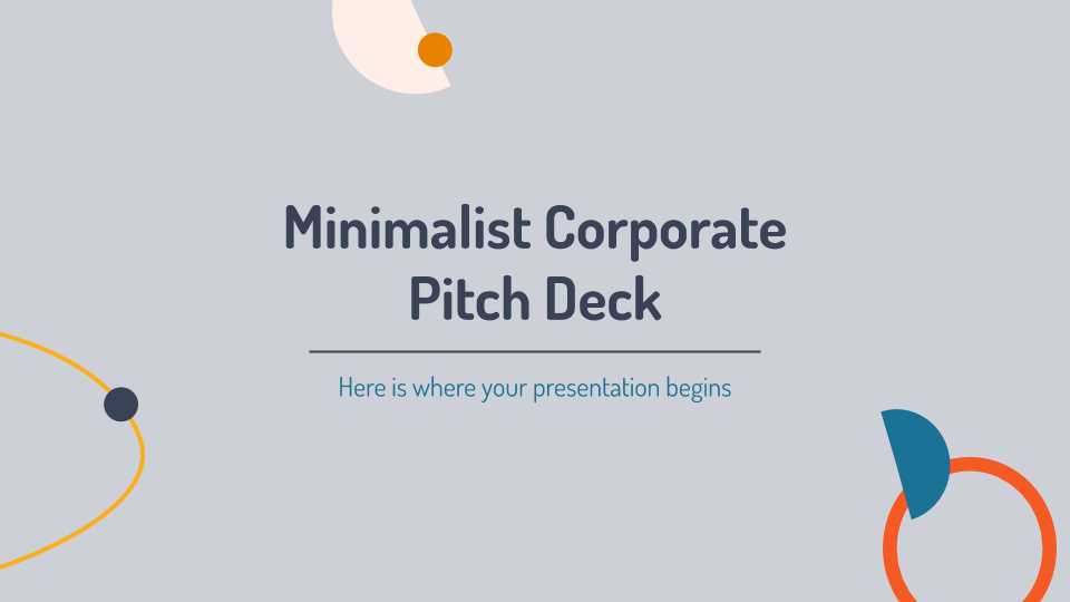 Minimalist Corporate Pitch Deck presentation template