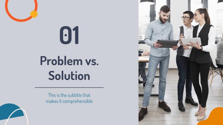 Minimalist Corporate Pitch Deck presentation template