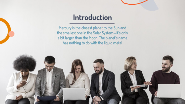 Modelo de apresentação Slides corporativos minimalistas