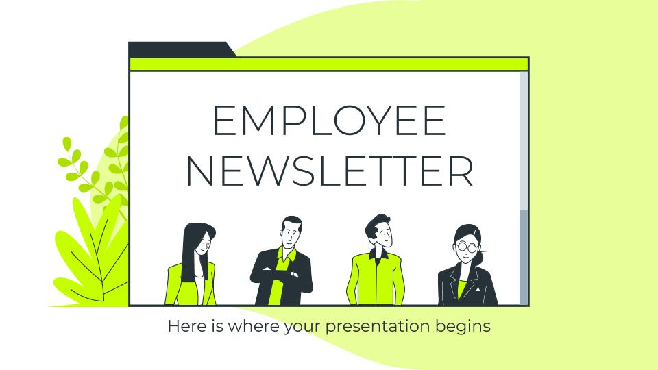 Employee Newsletter presentation template