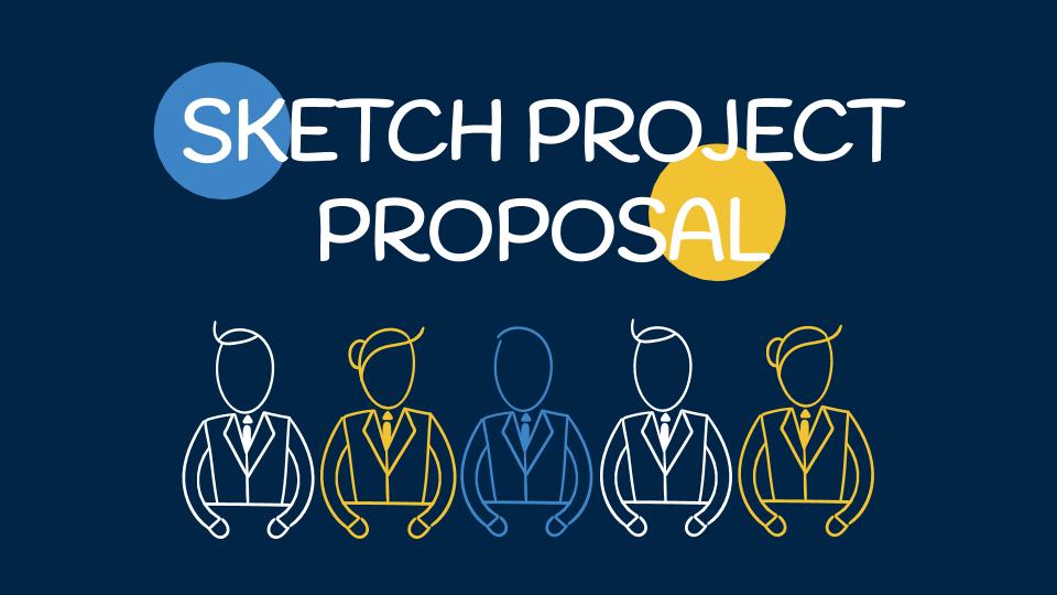 Skizzen-Projektvorschlag Präsentationsvorlage