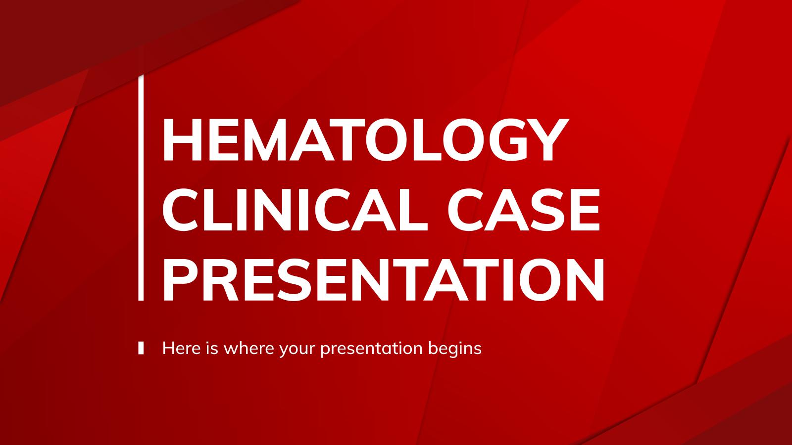 Plantilla de presentación Caso clínico de hematología