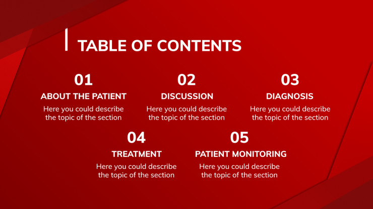 Hematology Clinical Case presentation template