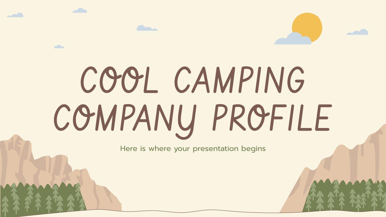 Cool Camping Company Profile presentation template