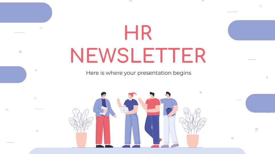 Plantilla de presentación Newsletter para RR. HH.
