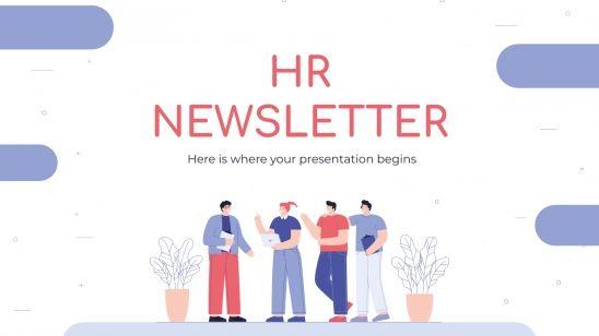 HR Newsletter presentation template