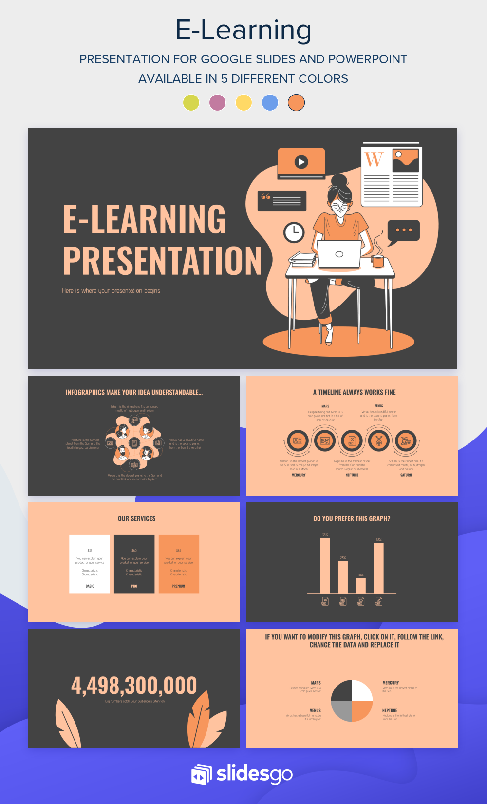 E Learning Presentation Google Slides And Powerpoint Template