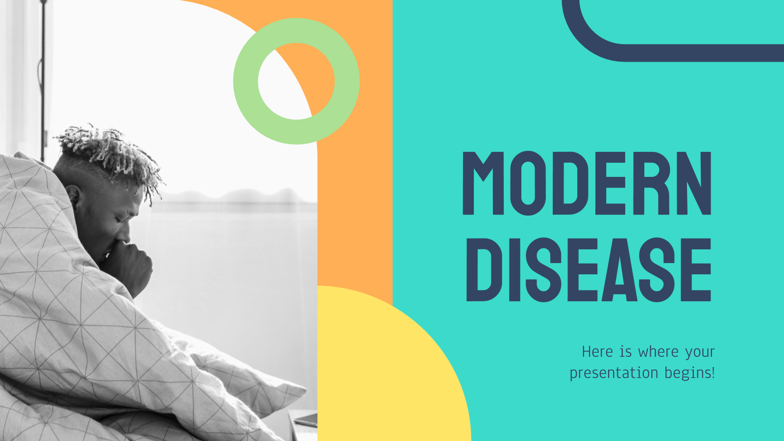 Modelo de apresentação Modelo moderno sobre doenças