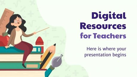 Digital Resources for Teachers presentation template