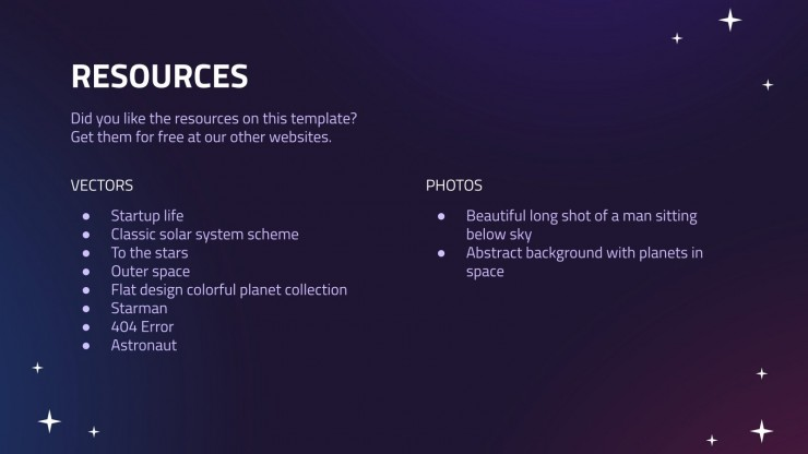 Space Vacation presentation template