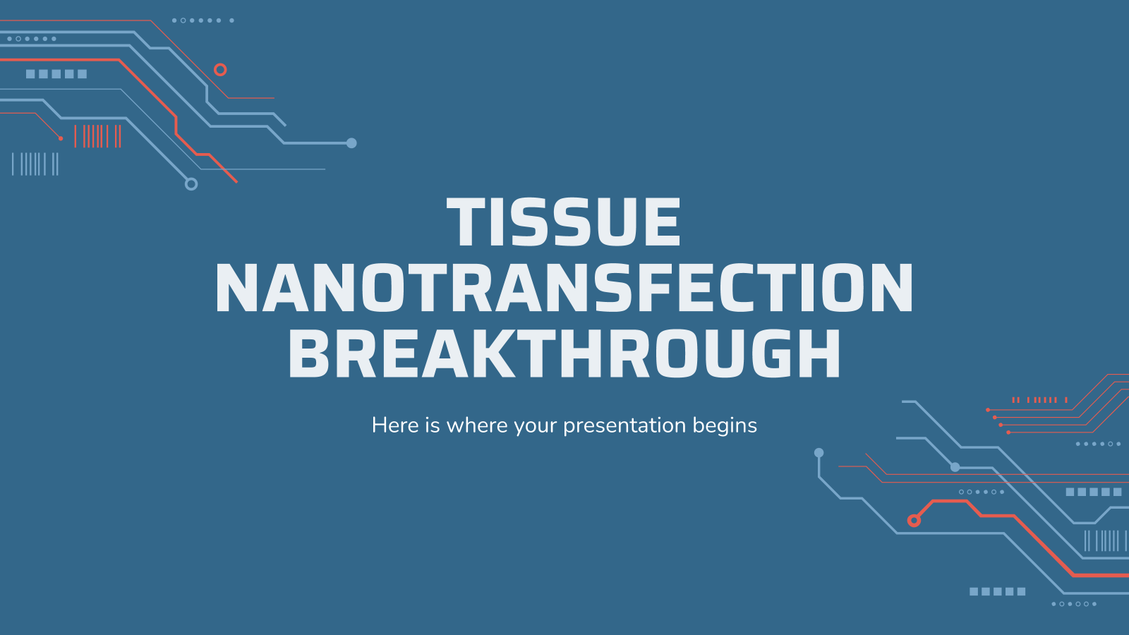 Tissue Nanotransfection Breakthrough presentation template