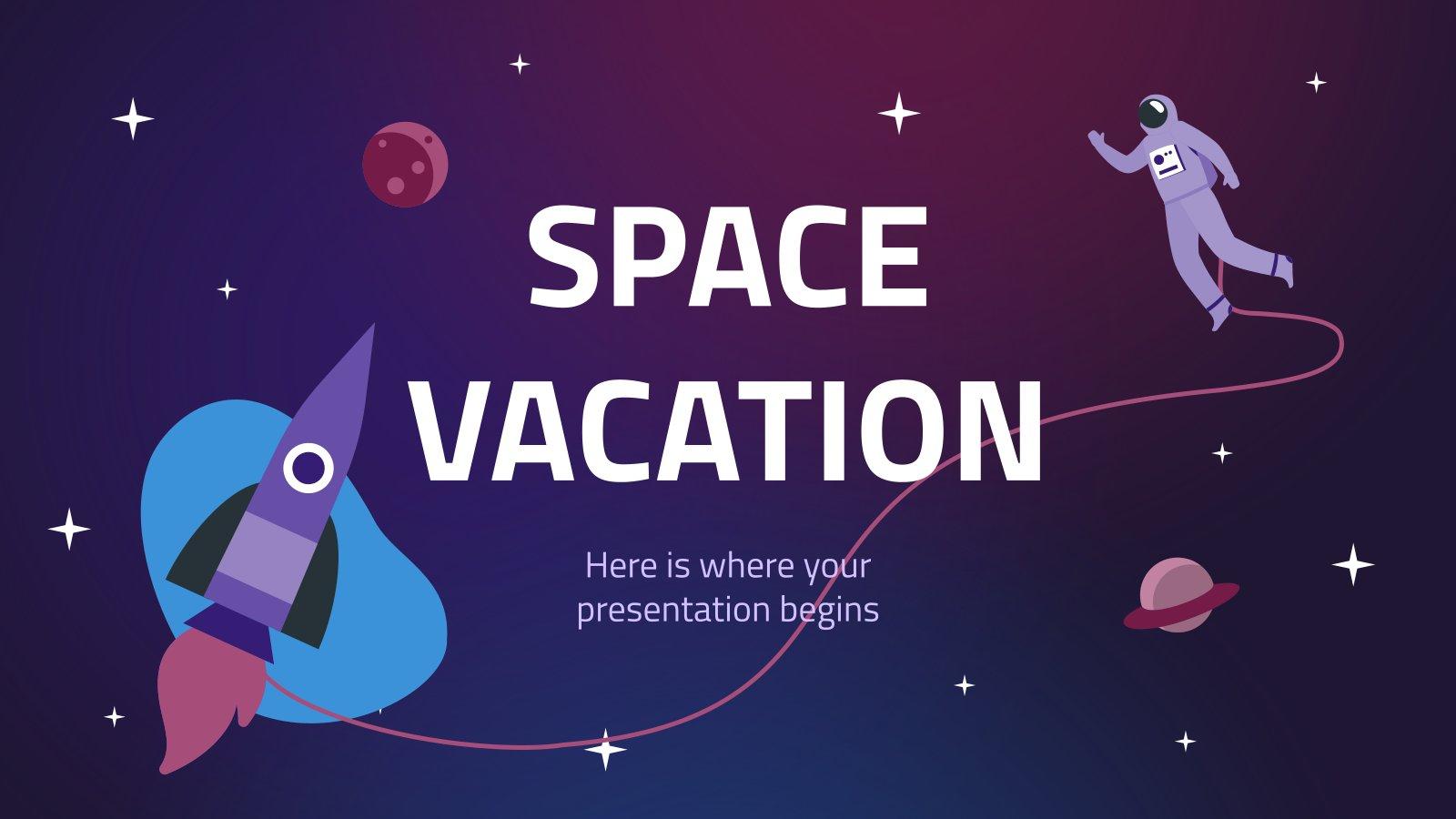 Modelo de apresentação Férias espaciais