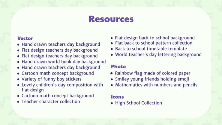 Plantilla de presentación Recursos digitales para profesores