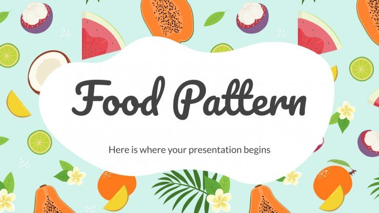Modelo de apresentação Estampa de comida