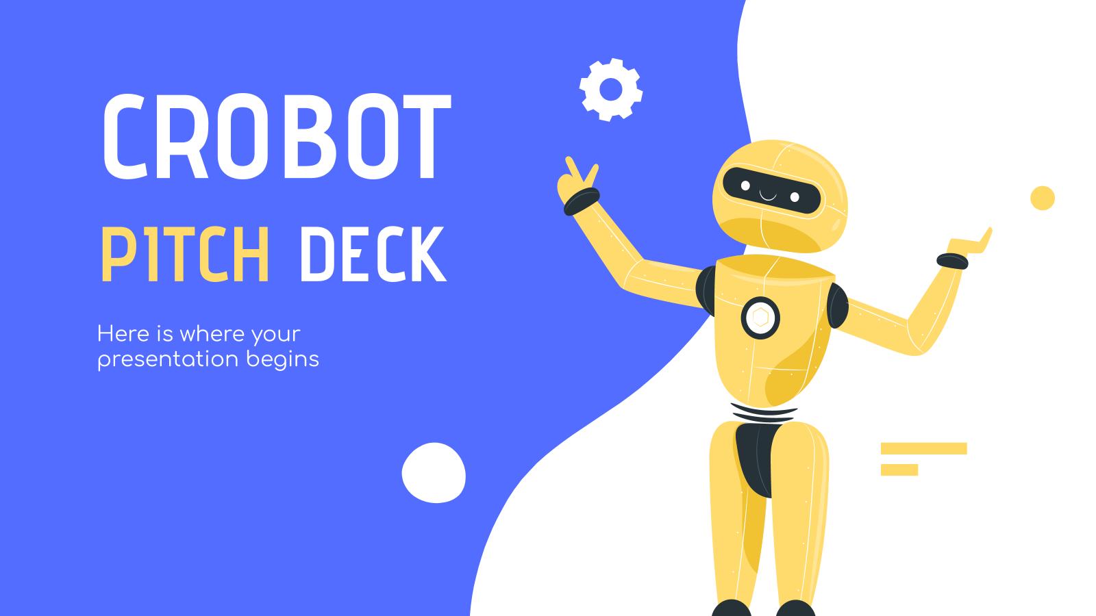 Plantilla de presentación Pitch deck Crobot