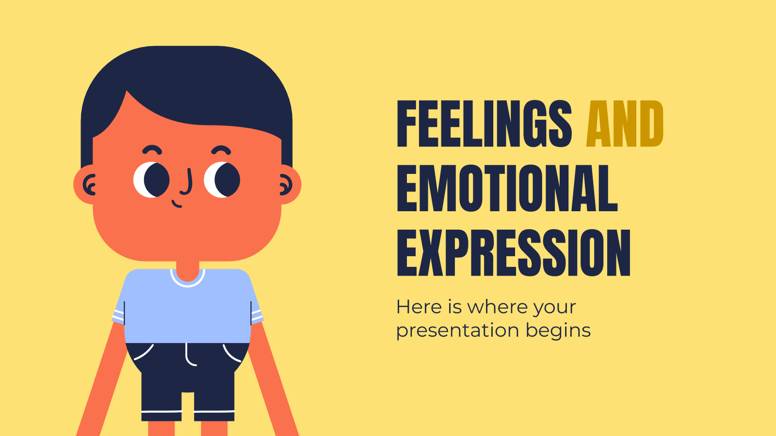Feelings and Emotional Expression presentation template