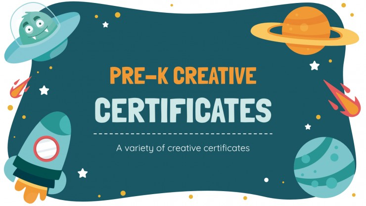 Pre-K Creative Certificates presentation template