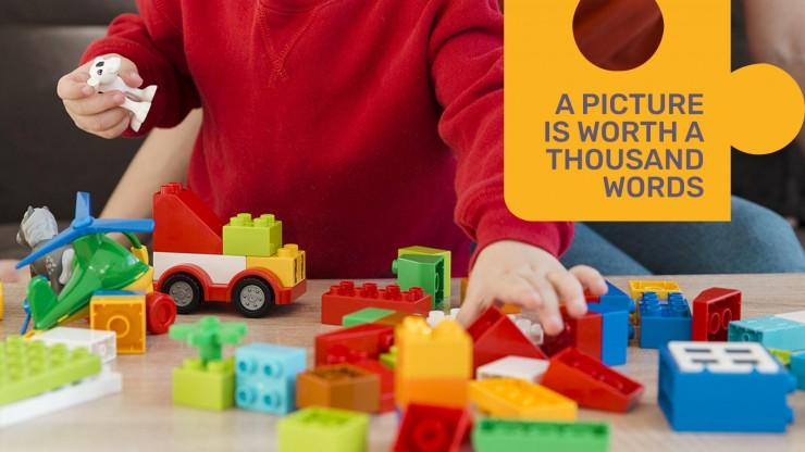 Plantilla de presentación Diapositivas con piezas de puzle