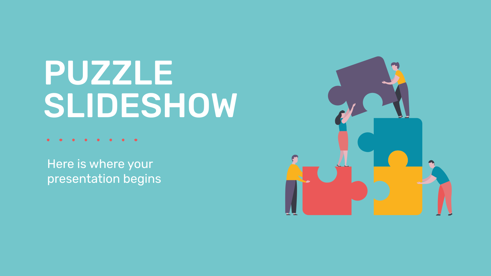 Puzzle Slideshow presentation template