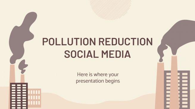 Plantilla de presentación Reducción de la contaminación