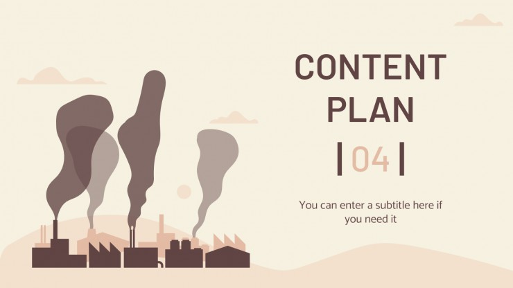 Pollution Reduction Social Media presentation template