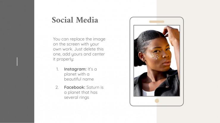 Plantilla de presentación Portafolio para profesionales del maquillaje