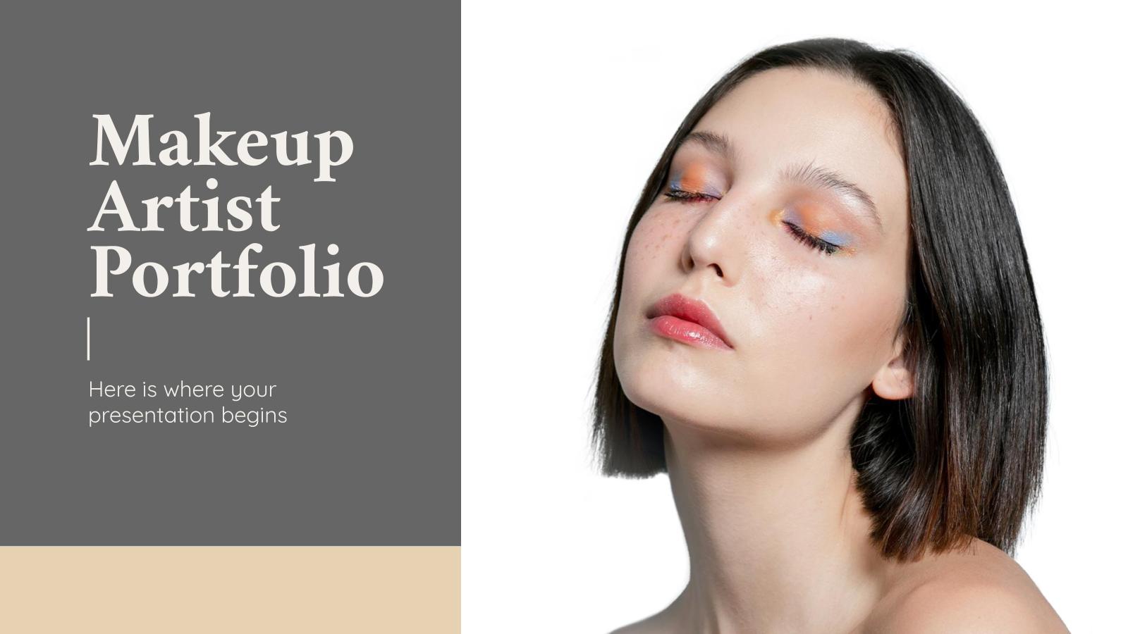 Makeup Artist Portfolio presentation template