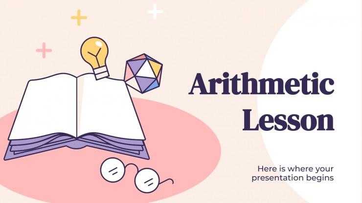 Arithmetic Lesson presentation template
