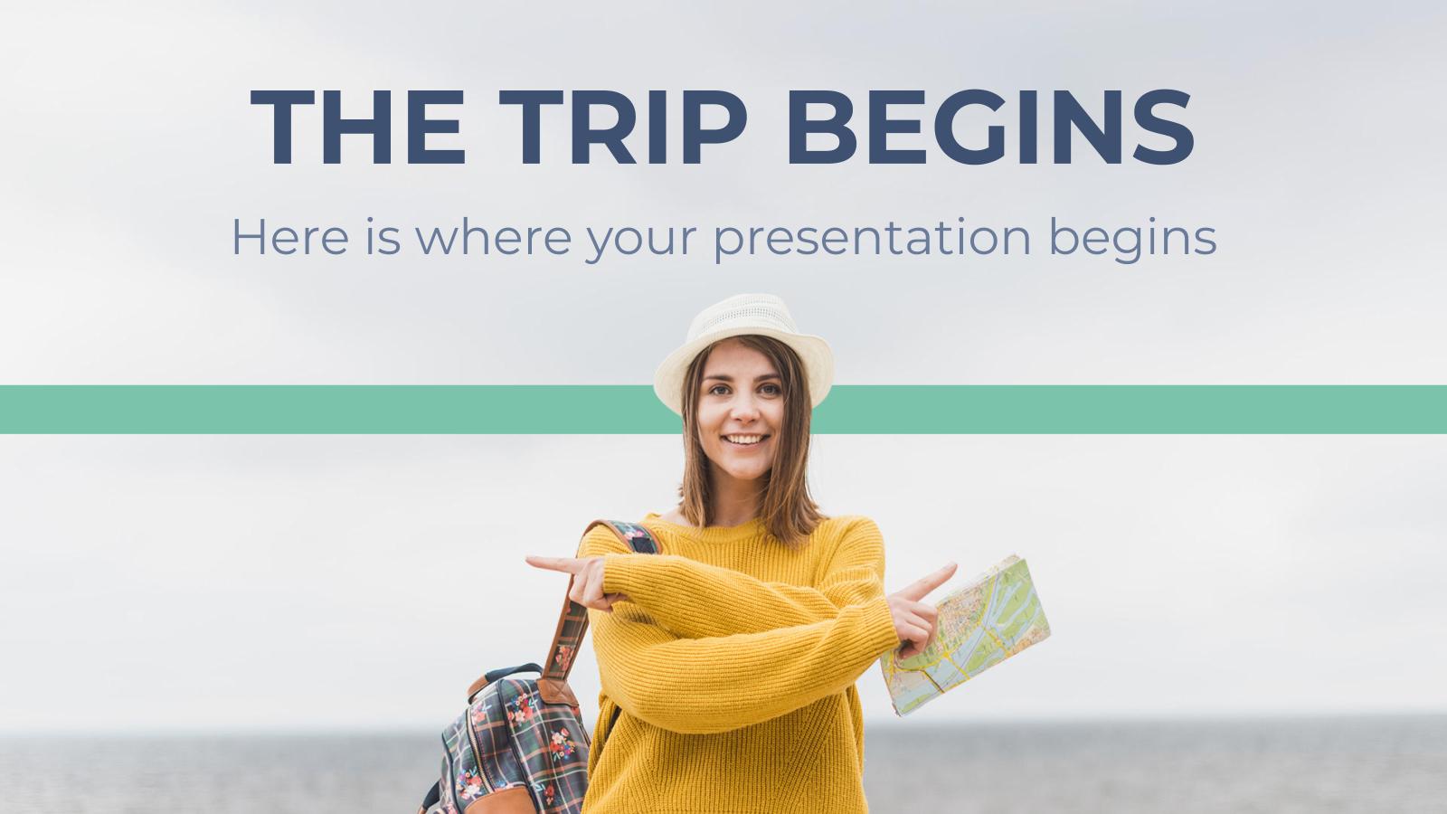 Plantilla de presentación Comienza el viaje