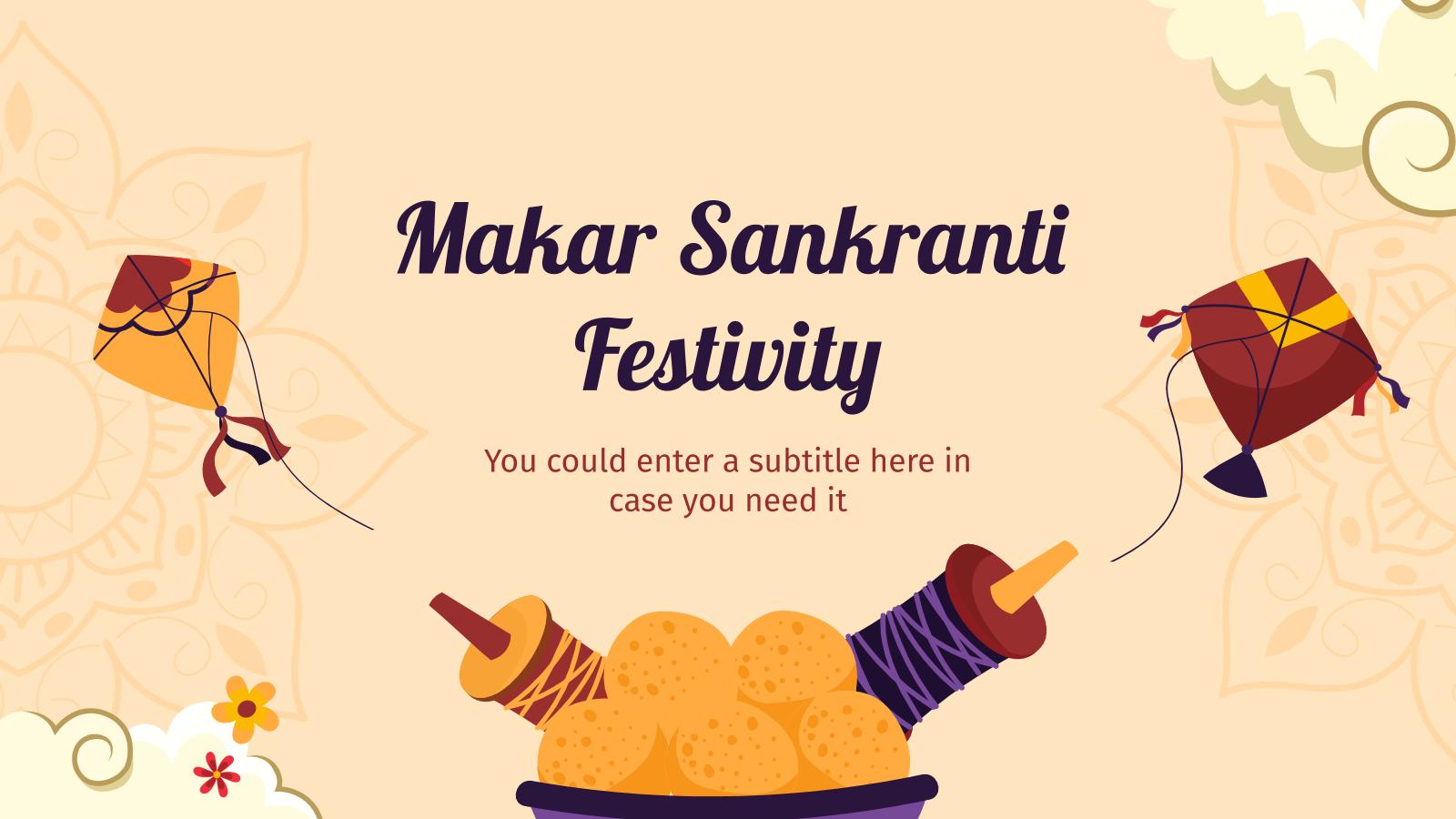 Plantilla de presentación Makar Sankranti