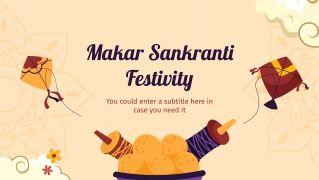 Modelo de apresentação Celebração Makar Sankranti