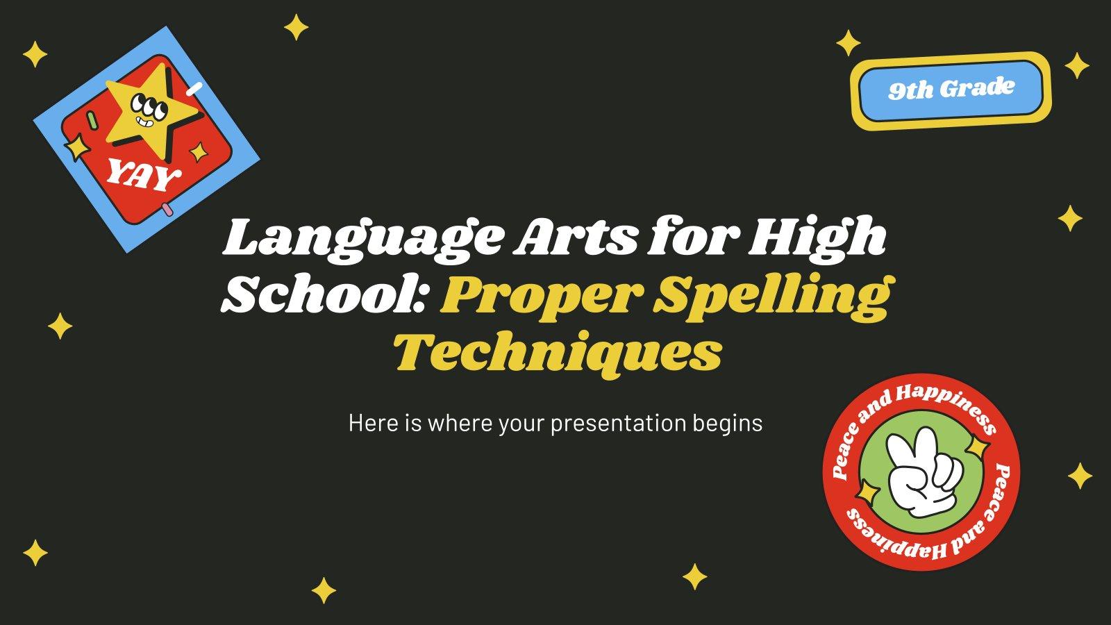 Sprache für die 9. Klasse: Rechtschreibtechniken Präsentationsvorlage