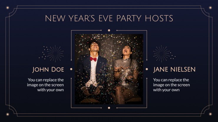 New Year's Eve Party presentation template