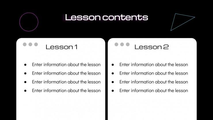 Edult Lesson Plan presentation template