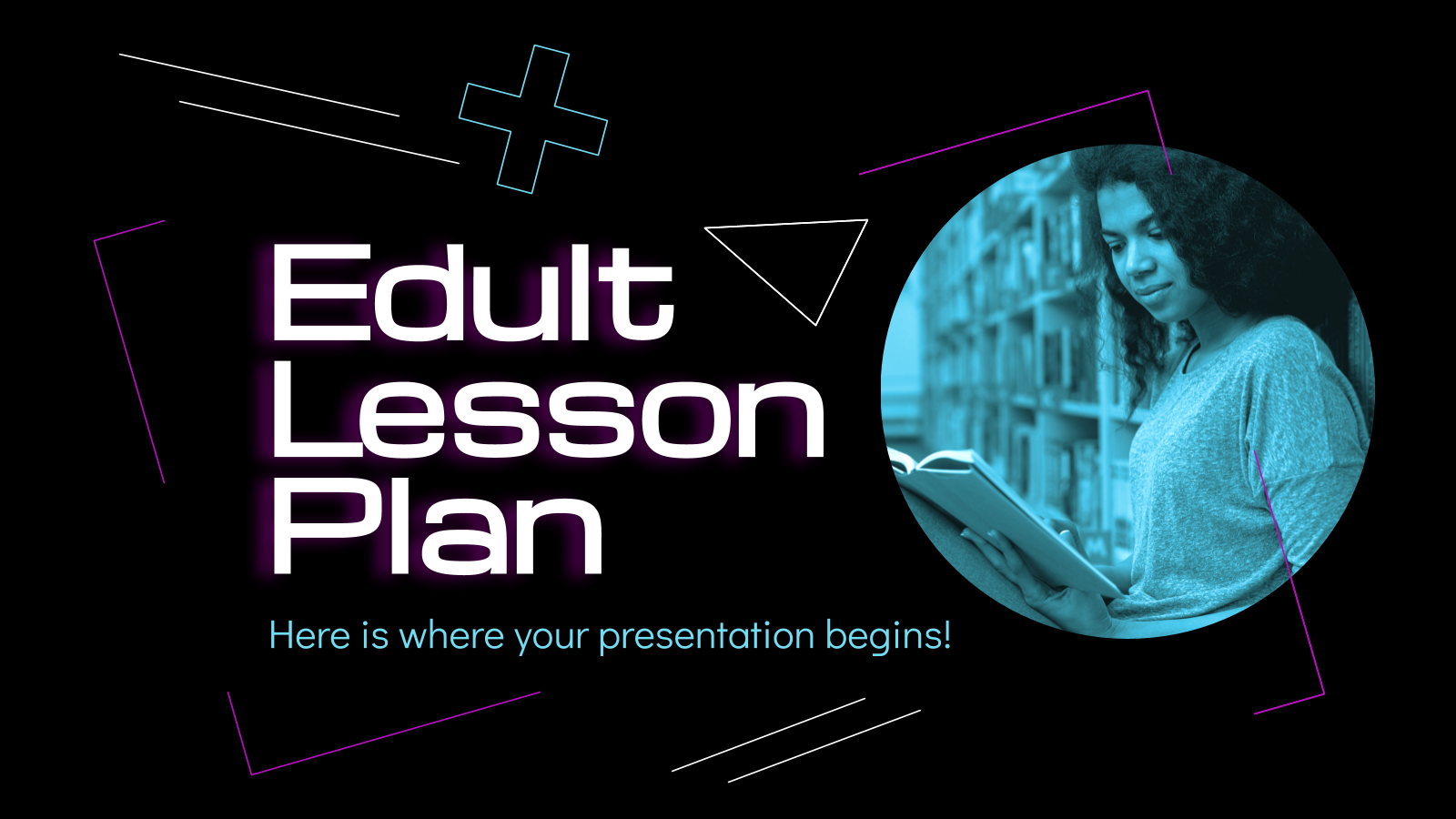 Edult Lesson Plan presentation template