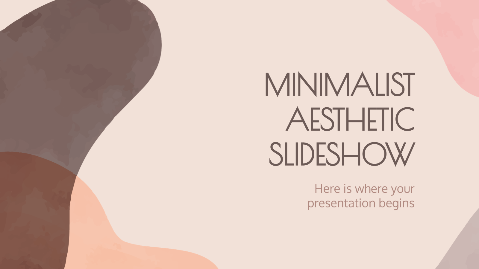 Minimalist Aesthetic Slideshow presentation template