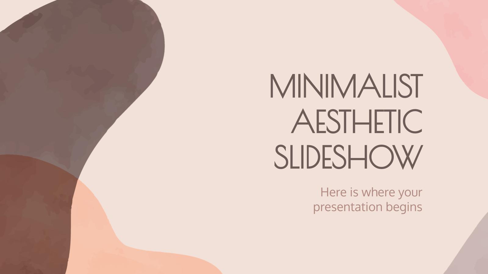 Diaporama esthétique minimaliste : Modèles de présentation