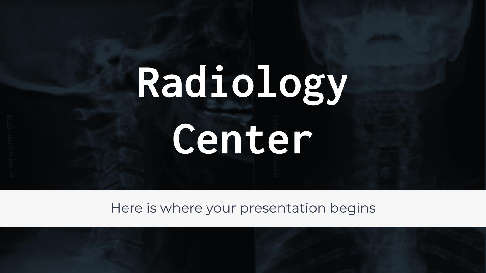 Modelo de apresentação Centro de radiologia
