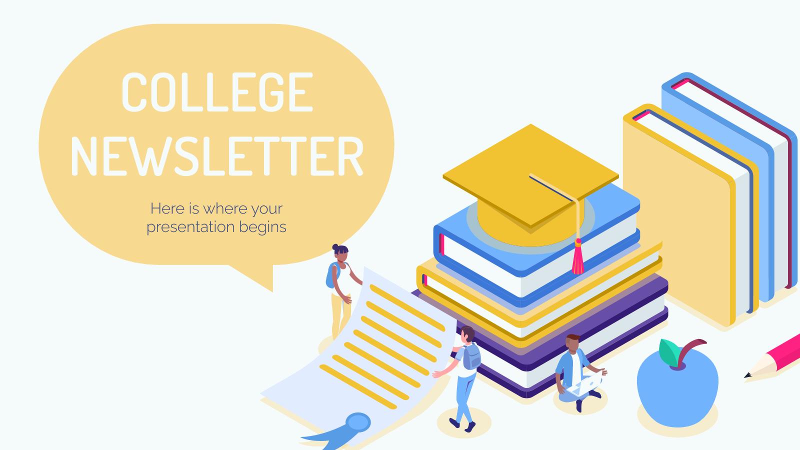 College Newsletter presentation template