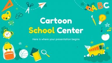 Cartoon School Center presentation template